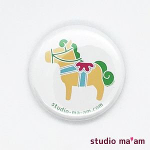 【MOKUBA】カンバッジ ミニ(06-白地×ピスタチオ)