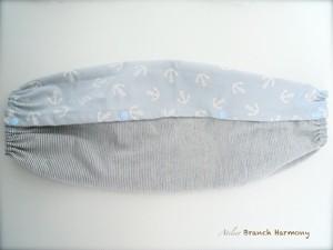 抱っこ紐 収納ケース (ポケット付き) ☆ マリン 水色 × ヒッコリーデニム