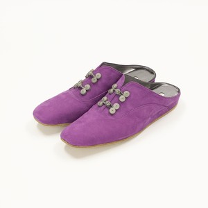 Room Shoes -Purple × Gray-