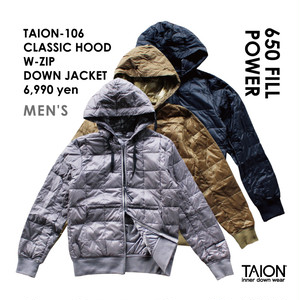 [ 今なら送料無料!! ] TAION-106 CLASSIC HOOD W-ZIP DOWN JACKET < 3色 >