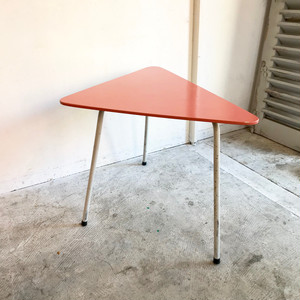 Paint Wood Triangle Side Table 60's Vintage オランダ