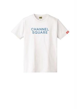 ロゴTシャツ WHITE×BLUE