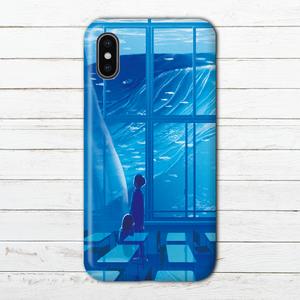 #068-001 iPhoneケース スマホケース iPhoneX おしゃれ クジラ Xperia iPhone5/6/6s/7/8 ノスタルジー ファンタジー GALAXY ARROWS AQUOS タイトル:放課後の夢 作:アスマル