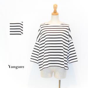 ☆SALE☆[Yangany] ボーダーボートネックプルオーバー