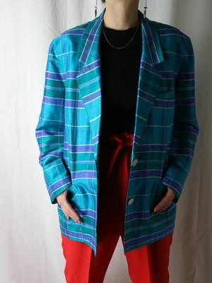 plaid pattern jakect【5534】