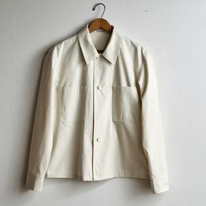THE HINOKI ザ・ヒノキ  オーガニックコットンウェザーショートシャツジャケット アイボリー (メンズ・レディース)