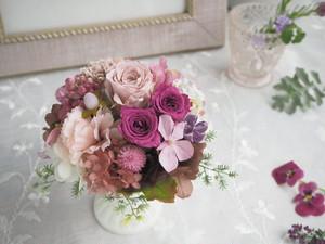 Pink beige antique *ピンクベージュアンティークアレンジメント*母の日*プリザーブドフラワー*花*ギフト