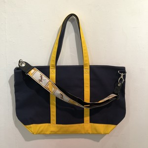 "LARGE STRAP TOTE ""DUNK"" (NAVY x YELLOW)"