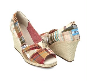 TOMS | Madras Plaid Women's Wedges