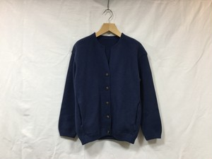 "crepuscule "" Womens Moss stitch cardigan "" Blue"