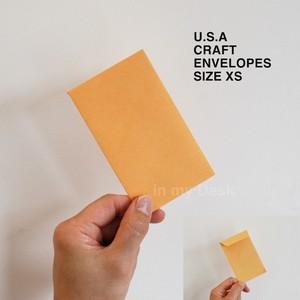 【size XS 】MADE IN USA アメリカの 小さい 封筒 シリーズ XSサイズ10枚セット ポチ袋 envelopes ミニ アメリカ直輸入 洋封筒 小物入れ 小物整理 チェキ封筒