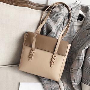 【バッグ】簡約ショルダーかばんビッグファッション大容量トートバッグ