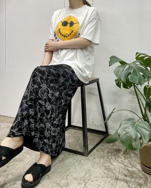 MADE IN USA RL RICHARD flower print front button maxi skirt 【S】