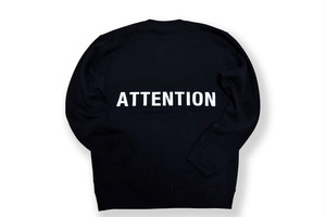 【BIG LOGO sweat】 / ATTENTION 黒
