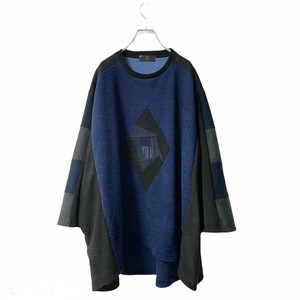Wide-T-shirts PW (navy)