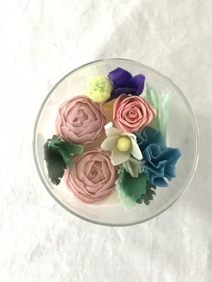 Assorted Flowers(in Glass) (soy wax & bee wax)