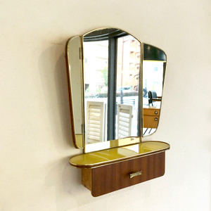 60's Vintage 3 Side Wall Mirror オランダ