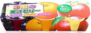 3種の果汁ゼリー 3個入