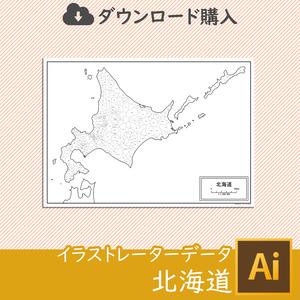 北海道の白地図データ
