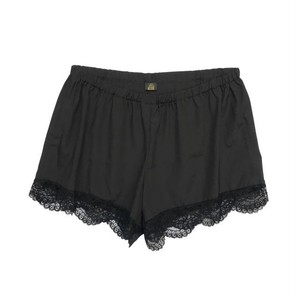 DE CHINE ×LACE TAP PANTS