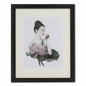 中村成二「淡紅香(たんこうか)-2  オリジナルプリント」額入り