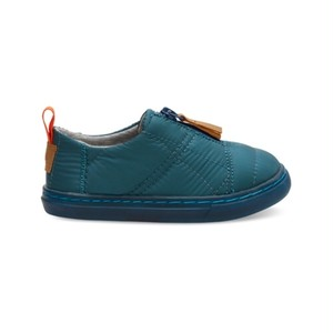 TOMS TINY / STELLAR BLUE QUITED NYLON LENNY SNEAKERS