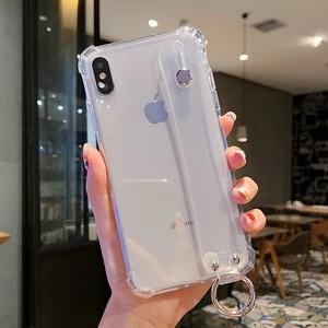 iPhone11 衝撃吸収クリアケース(ベルトストラップ付き)