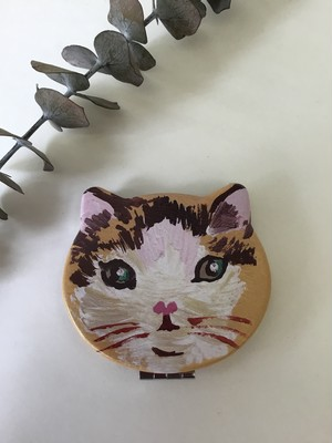 Nathalie Lete コンパクトミラー cat Toffee