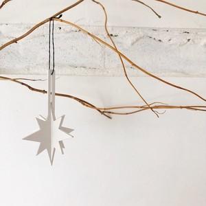 Christmas ornament -wooden ジョイントオーナメントスパークル・(WH)-