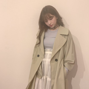 ribbon trench coat (S19-06019K)