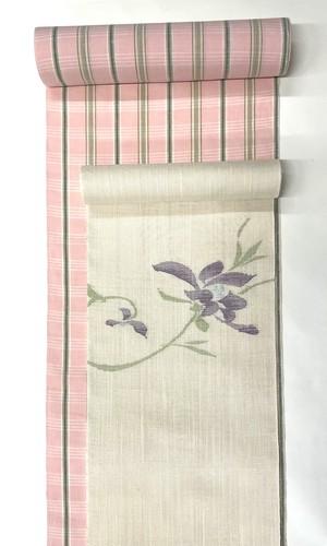 麻八寸帯(花)