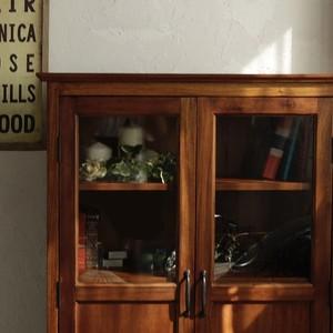 予約商品[ sou ]  Glass Cabinet / アンティークスタイル ガラスキャビネット