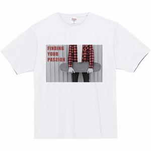 [PASSION] 7.4oz スーパーヘビー monokuro Tシャツ[ホワイト]