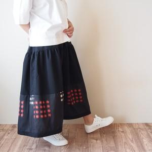 HAREGI SKIRT -ビンテージの銘仙の着物地を使ったフレアスカート [ロング]
