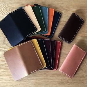 イタリアンレザーブッテーロのiPhoneケース ポケット付き 手縫い/本革/ヌメ革 iPhone全機種より選択可