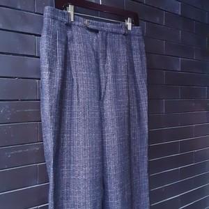Check Patterned Wool Slacks チェック ウール スラックス
