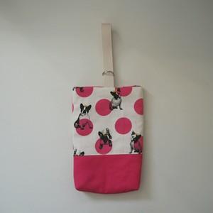 シューズバッグ ☆ フレンチブルドッグ × ピンク