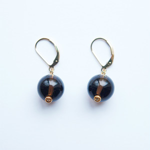 GLOBE Earrings | Smoky Quartz, 14KGF