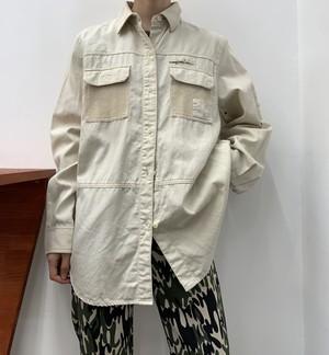 LAUREN cotton fishing shirt 【M】
