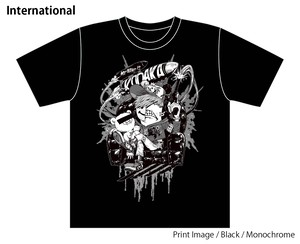 [Black / Monochrome] Collaborative T-shirt by Kazutaka Kodaka (Tookyo Games) and jbstyle.