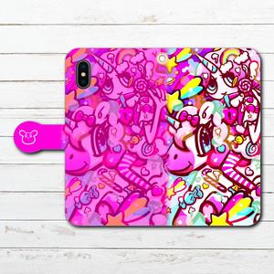 iPhoneケース スマホケース 手帳型 全機種対応 ゆめかわいい 女の子 イラスト Galaxy ギャラクシー ケース タイトル:SWEET DREAM 作:プラネ