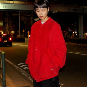 80s CHAMPION REVERSE WEAVE SNAP CARDIGAN ''RED'' / RW156