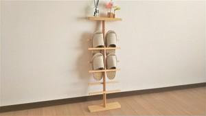 青森ひば 木製 スリッパラック 立て掛け式 三足用