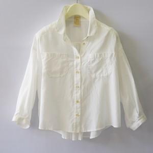 boga,boga,loopline Job shirts 7/10sleeve ホワイト