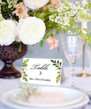 【Simple Greens】ゲストが何名でもこの値段♥︎自分で作る海外ウェディング風 席札│結婚式