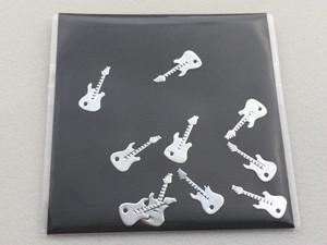 np-10-s 薄型メタルネイルパーツ ギター シルバー