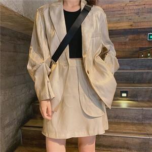 ミドルスーツジャケットルーズトップス+スカート