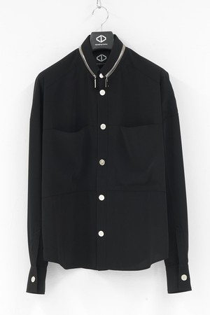 Panel Pocket Button Shirts / Black [20-21AW COLLECTION]