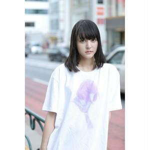 特価『時に滲む女の子のTシャツ』(白)