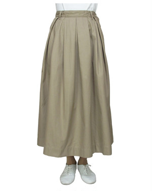 T/C chino long tuck-skirt